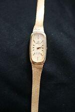 Vintage Omega Watch De Ville Quartz Ladies All 14 K Gold Authentic