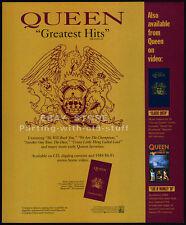 QUEEN : Greatest Hits__Original 1992 Print AD music promo / mini-poster