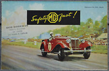 MG TD June 1951 fold out colour brochure - NEL184A