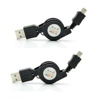 2x Retractable Micro Data Charge USB for Samsung Galaxy S2 S3 S4 S5 S6 S7 EDGE