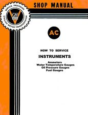 1930s-1950s AC GM Instrument Gauge Service Manual Ammeter Oil Gas Temperature