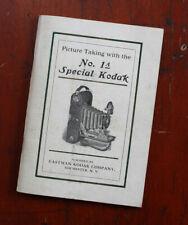 KODAK NO. 1A SPECIAL KODAK INSTRUCTION BOOK, SEP 1912/cks/211386