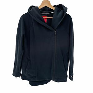 Nike Tech Fleece Women Size Large Black Asymmetrical Cape Hoodie Zip Jacket