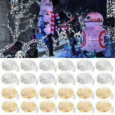 18/36x 30LEDs Waterproof LED MICRO Silver Copper Wire String Fairy Lights Decor