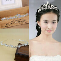 Women Crowns Hair Headpiece Crystal Faux Pearl Accessories Wedding Party Decor