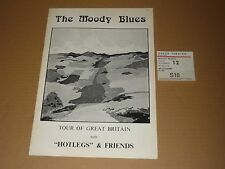 Moody Blues/Hotlegs 1971 Tour Programme + Ticket