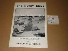 Moody Blues/Hotlegs 1971 Tour Programme + Ticket