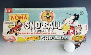 Vintage Christmas Noma Sno-Ball Lights