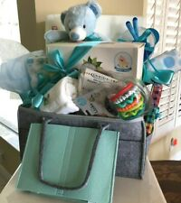 New Baby Boy Gift Set Basket -Large Diaper Caddy for Baby Shower Christmas $275