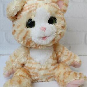 2017 Hasbro FurReal Cuddlin Cara Interactive Kitten Cat Works Purrs Closes Eyes