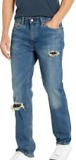 Levi's Mens Jeans Blue US 34X32 541 Athletic Tapered Ripped Stretch $69 #178