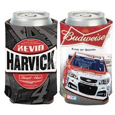 Kevin Harvick 2015 Wincraft #4 Budweiser 12oz Can Coolie FREE SHIP!