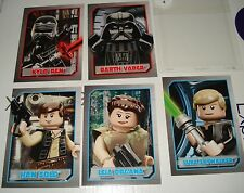 NEW Lego STORE EXCLUSIVE Star Wars 5 Card set RARE KYLO VADER LEIA HAN LUKE