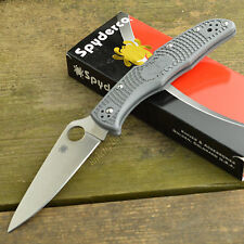Spyderco Endura 4 FFG VG10 Plain Edge Gray FRN Folding Knife C10FPGY