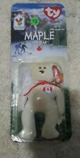 Beanie Baby Maple The Bear Mini white