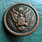 Vintage 1917 WWI Military Service Button City Button Works New York Seal Eagle