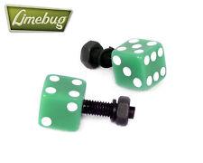 Verde Dados número de matrícula Pernos (par) Vw Camper Beetle euro golf Polo de coche