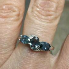 Tunduru Colour Change Sapphire & White Topaz Sterling Silver Ring 1.96cts N