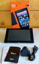 """Kindle Fire HD 7 Tablet 8GB 8"""" WiFi Piano Black 7th Gen + Smart Case BUNDLE"""