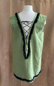 L Men Pirate Renaissance Medieval costume tunic custom green jester adult unisex