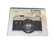 Canon FTb  Libretto istruzioni