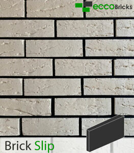 Rustic Ivory White - Extruded Brick Slip %100 Clay Natural Wall
