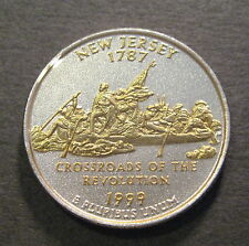 1999 Gold & Silver Highlighted State Quarter - New Jersey *No Reserve* (Q520)