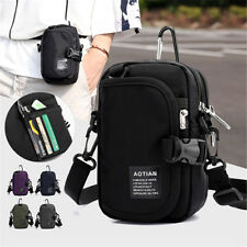 Men Women Waterproof Nylon Handbag Crossbody Waist Belt Shoulder Bag Phon /
