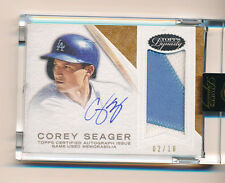 2016 Topps Dynasty Corey Seager 2 Color Patch Auto RC Dodger /10