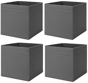 Ikea Drona Insert - Dark Grey Folding Boxes 33x38x33cm (Set of 2,4,6,8,10)