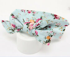 Blue Flower Baby Girl Bow Headband Hair Band Accessories Headwear Head Wrap
