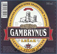 Poland Brewery Ciechanów Gambrynus Leżak Beer Label Bieretikett Cerveza ci71.2