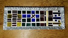 UNIQUE GLASS/TILE WALL ART WITH ORNATE METAL FRAME: CHECK OUT PICS !!
