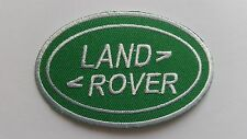 MOTOR RACING CAR SPEED FESTIVAL SEW ON / IRON ON PATCH:- LAND ROVER (a) GREEN