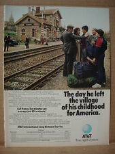1985 AT&T Telephone Villeneuve France Train Station Vintage Print Ad 136
