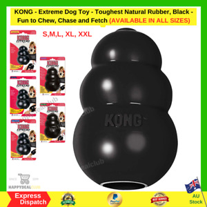 KONG Extreme Dog Toy-Toughest Natural Rubber- Black- All Sizes S M L XL XXL NEW