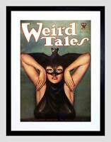 COMIC BOOK COVER WEIRD TALES VAMPIRE WOMAN BAT USA FRAMED ART PRINT B12X6686