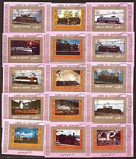Les locomotives à vapeur,électriques,diesel 15 PETITS BLOCS  407
