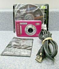 Vivitar ViviCam 5022 5.1Mp Digital Camera - Pink Usb Cable Image Manager Cd