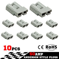 10X 50AMP Premium Anderson Style Plug Exterior Connector DC Power Solar JS