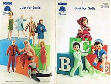 Doll Clothing Wardrobe Knitting Pattern Book Barbie Fashion Baby Dolls Patons