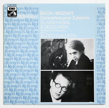 CLARA HASKIL & GEZA ANDA Mozart Bach two pianos cto french EMI references VSM LP