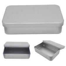 1PCS Small Metal Tin Silver Storage Box Case Organizer Money Coin Candy Key NT