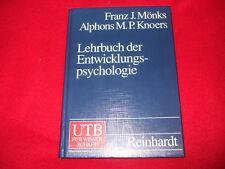 Franz J. Mönks - Lehrbuch der Entwicklungspsychologie  - GEBUNDEN  UTB Reinhardt