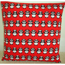 "Cute Panda 16"" Cushion Cover Kid's Bedroom Red Black and White Pandas"