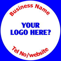 PERSONALISED GLOSS BUSINESS LOGO STICKERS UPLOAD YOUR OWN ARTWORK LABELS