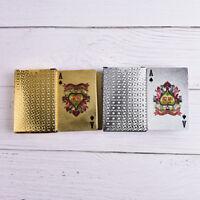 Waterproof Gold Plastic 3D Embossing Poker Cards Advanced Plastic Playing JKHVIJ