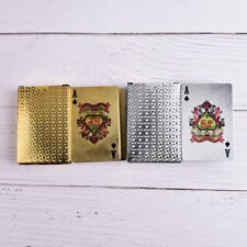 Waterproof Gold Plastic 3D Embossing Poker Cards Advanced Plastic Playing Cards.