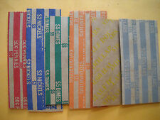 25 new paper coin wrappers your choice penny nickel dime quarter half dollar $1