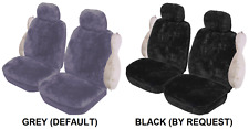 PAIR ACRYLIC IMITATION SHEEPSKIN CAR SEAT COVERS FORD FPV F6 TYPHOON